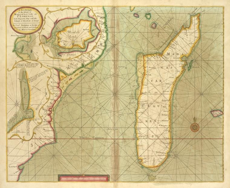 Karta ostrova Madagaskar