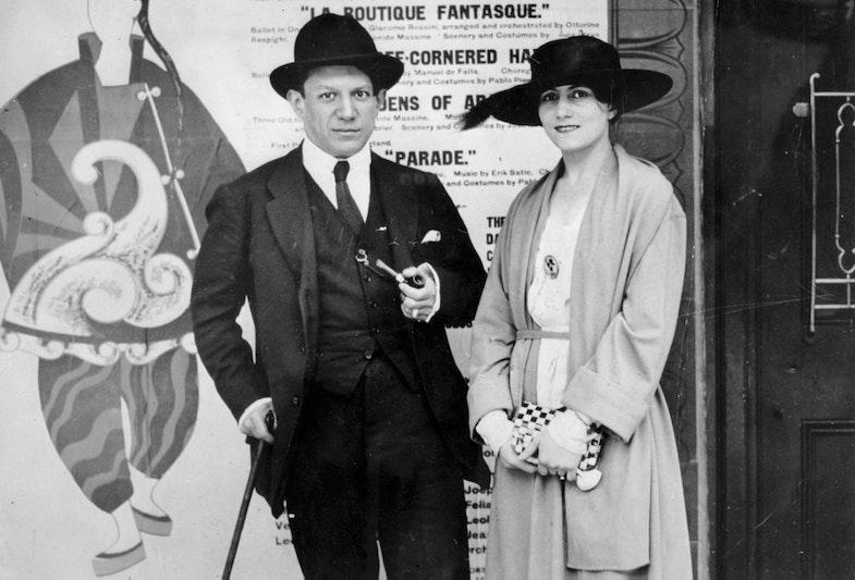 Pablo Picasso and Olga Khokhlova