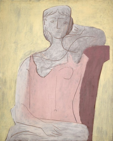 Woman in pink Picasso