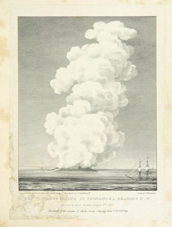Rozhdenie vulkanicheskogo ostrova u poberezhya Sitsilii