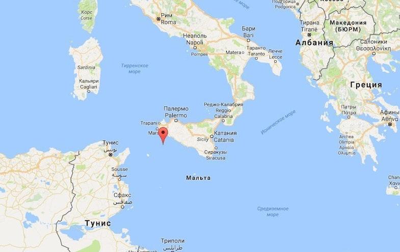 Ostrov na karte
