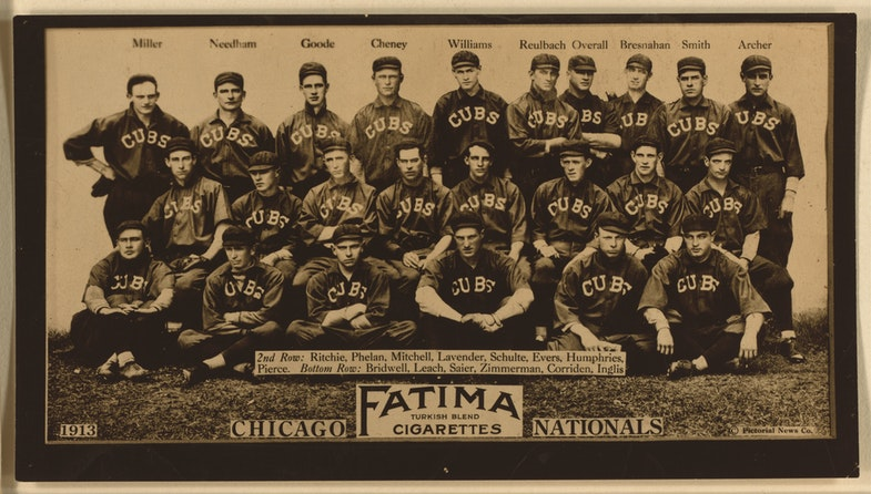 Chicago Cubs, baseball card