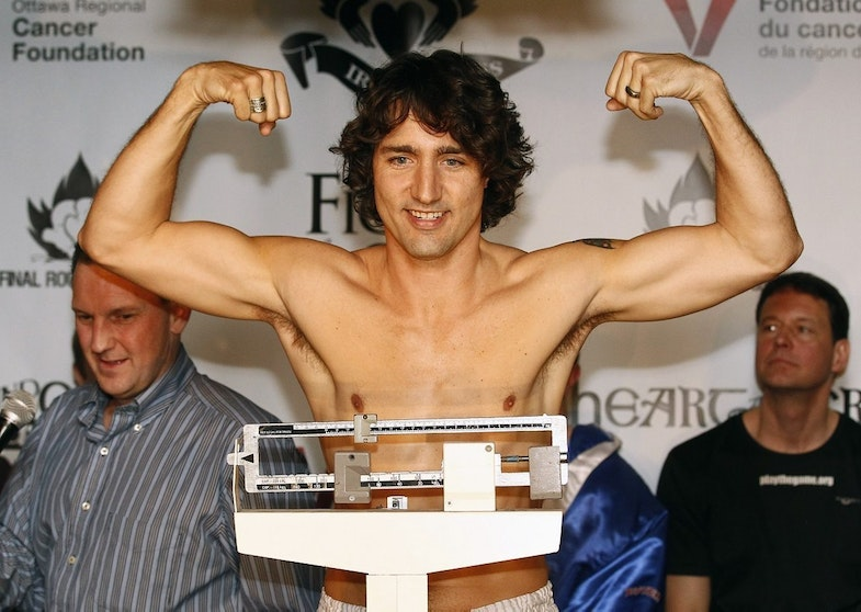 Trudeau weigh boxing