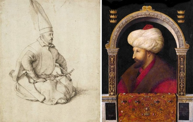 Janischar and Sultan Mehmed II