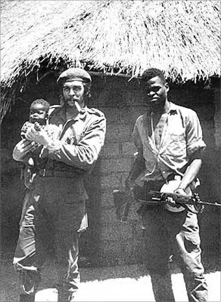 Che Guevara with аfrican child Congo