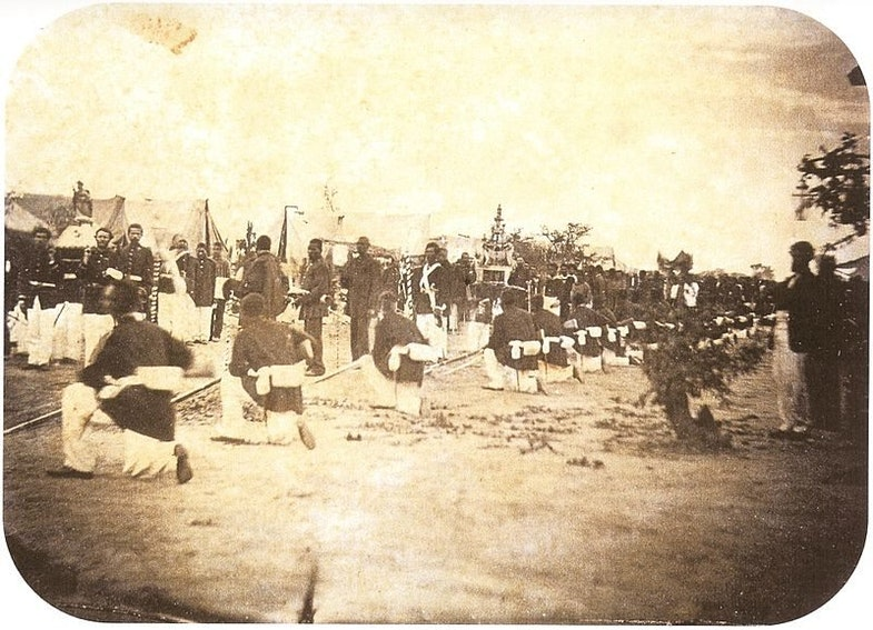 Brazilian soldiers, may 30, 1868
