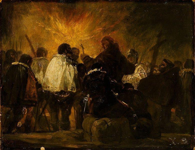 Fransisko Goyya. Nochnaya stsena inkvizitsii