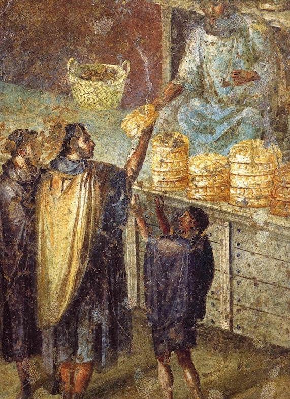 Freska «Torgovlya hlebom»