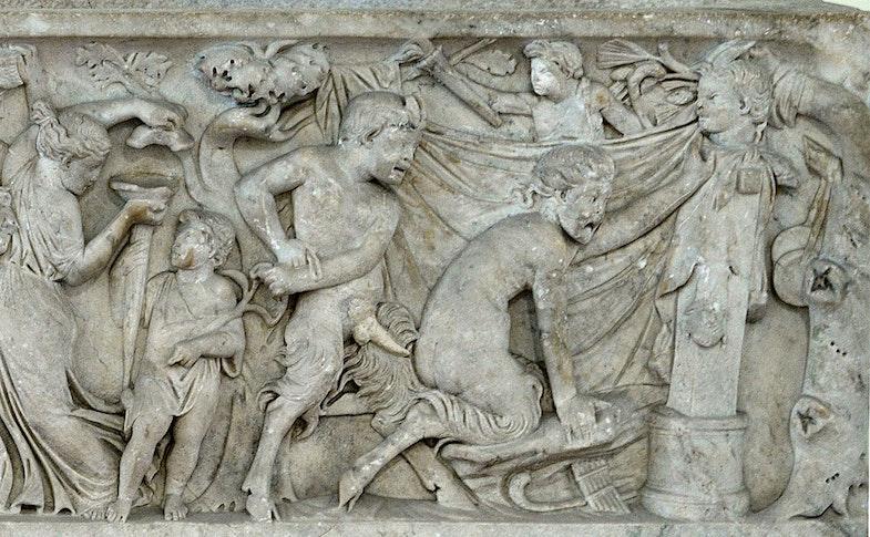 The Roman sarcophagus Secret Cabinet
