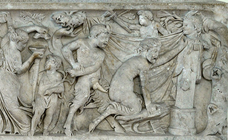 The Roman sarcophagus Secret Cabinet