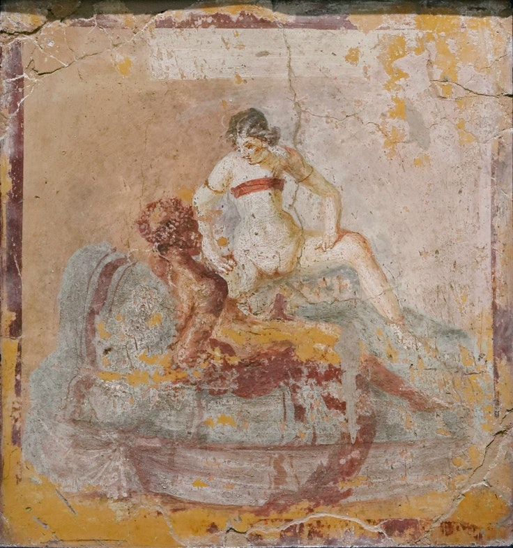 «Eroticheskaya stsena», freska,1-50 gg. nashey eryi
