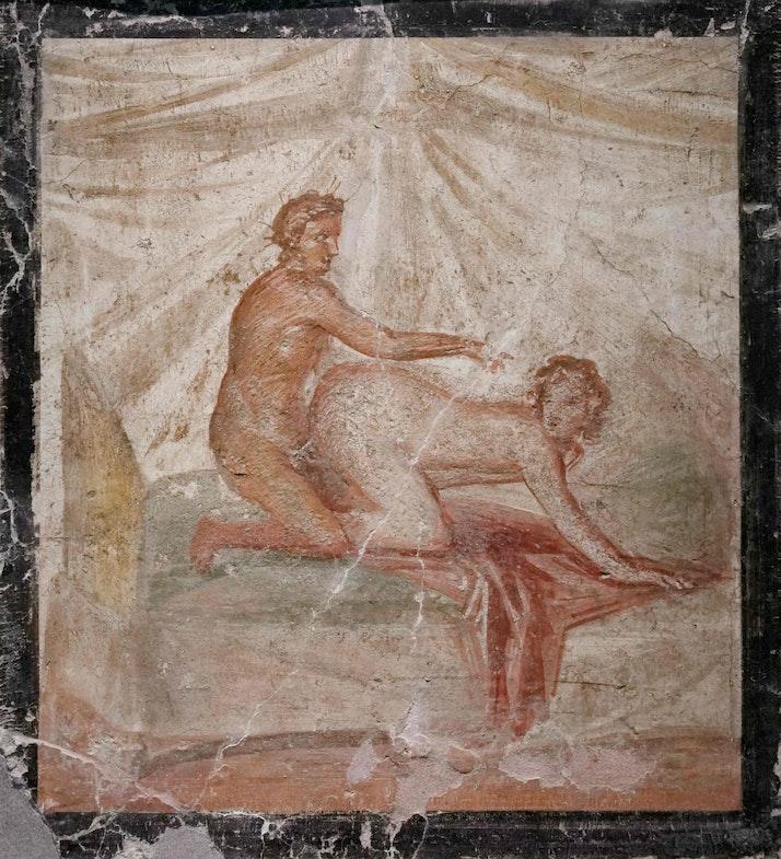 «Эротическая сцена», фреска, 50-70 гг. нашей эры