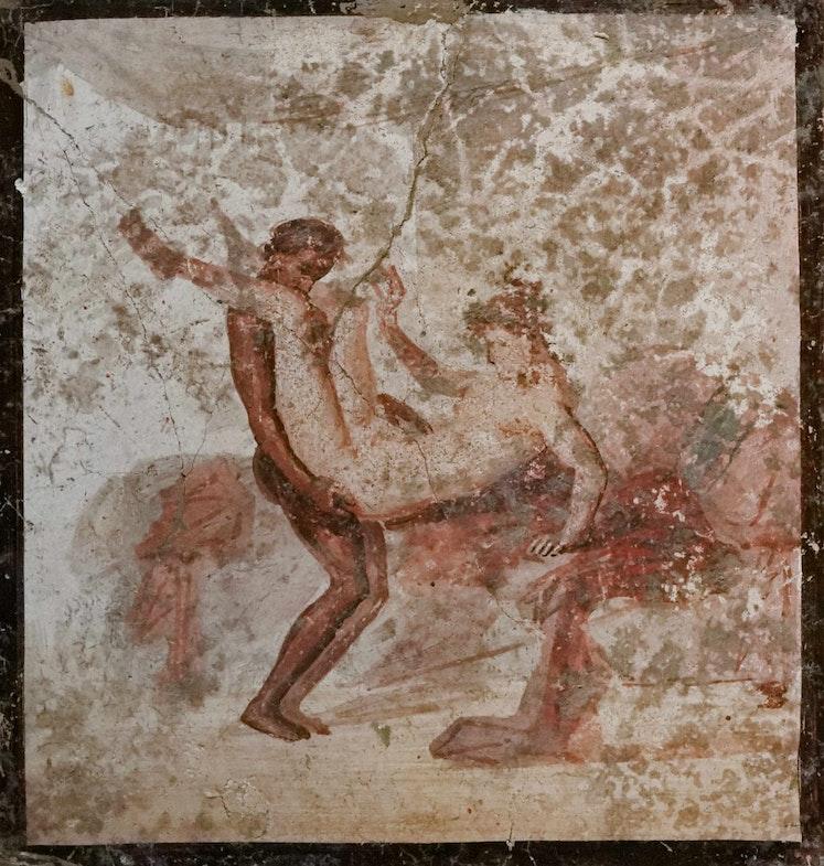 «Eroticheskaya stsena», freska, 50-79 gg. nashey eryi.
