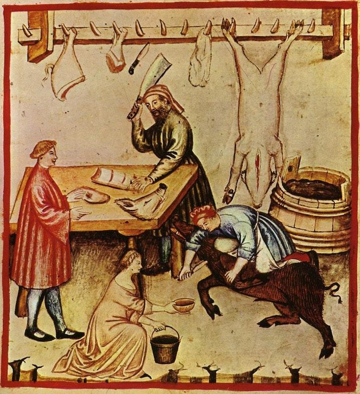 Lavka myasnika, 14 stoletie