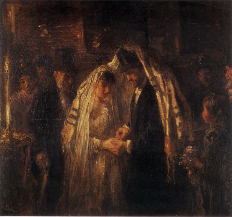 «Evreyskaya svadba», Yosef Israels, 1903 g.