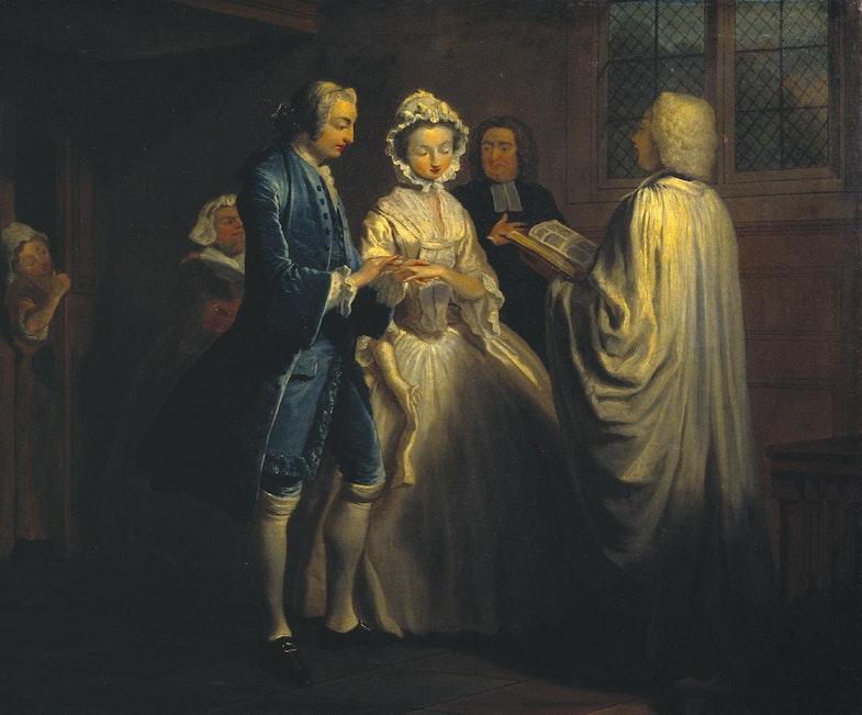 IX: Pamela is Married 1743-4 by Joseph Highmore 1692-1780