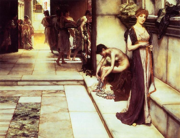 Apoditeriy.Kartina Lourensa Alma-Tadema, 1886 g.