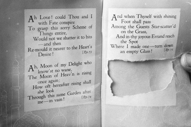 Tamam Shud torn page Rubaiyat Omar Khayyam