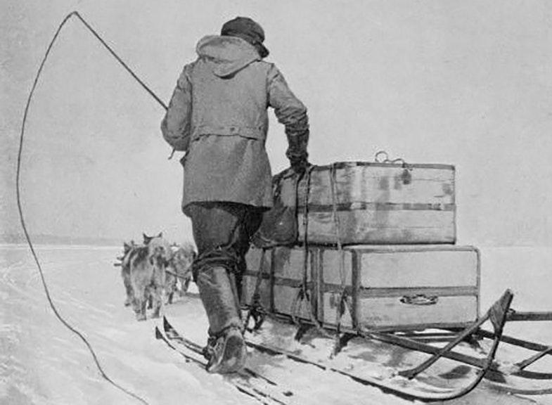 Sobachya upryazhka.Ekspeditsiya Roalda Amundsena. 1911 g.