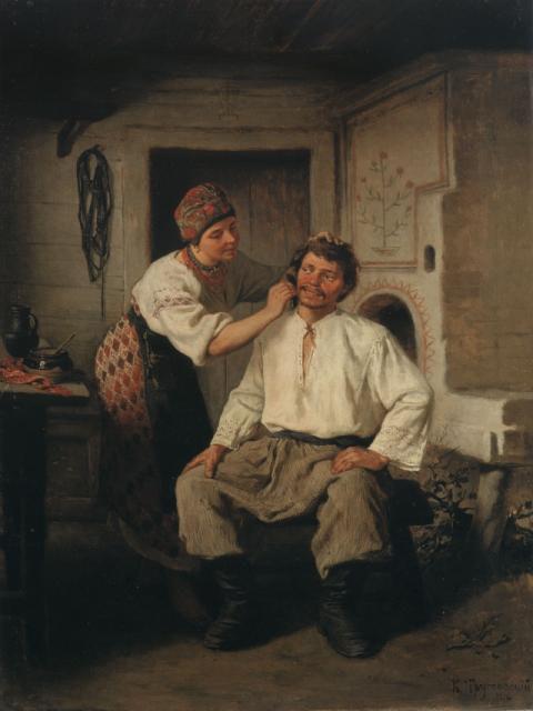 K.Trutovsky genre scene