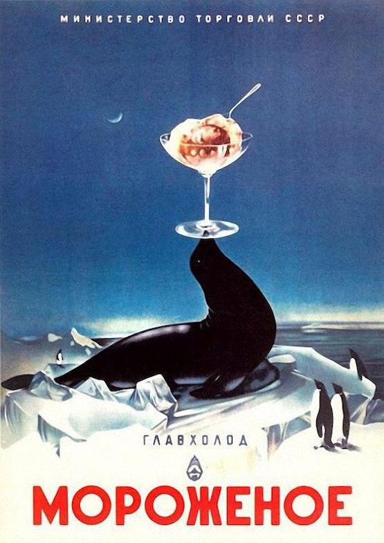soviet poster ice cream
