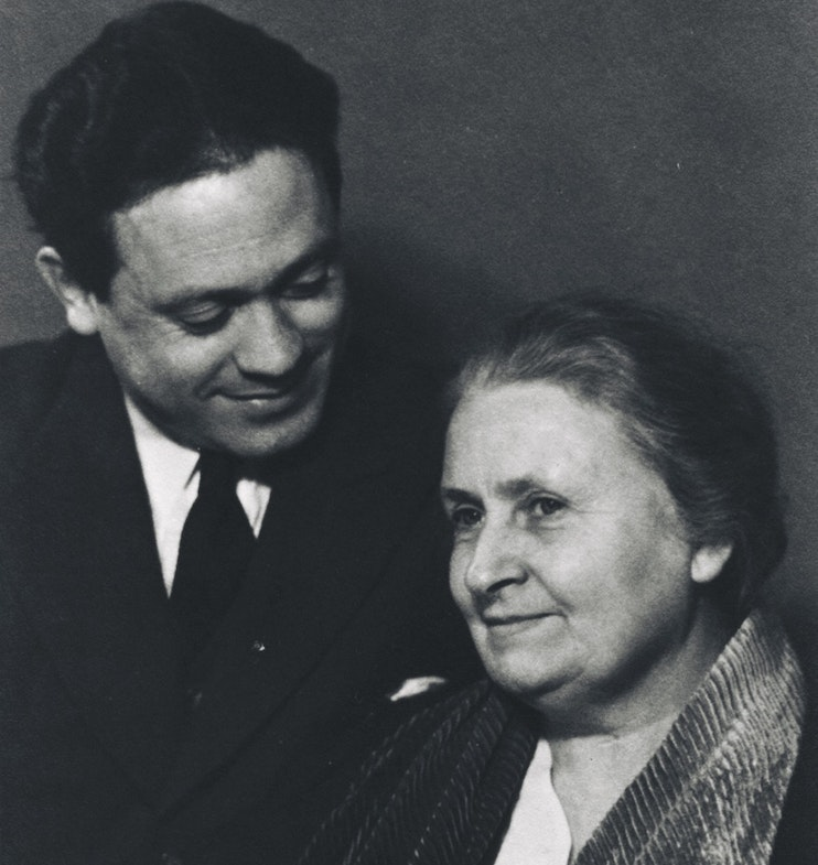 Maria Montessori with son Mario