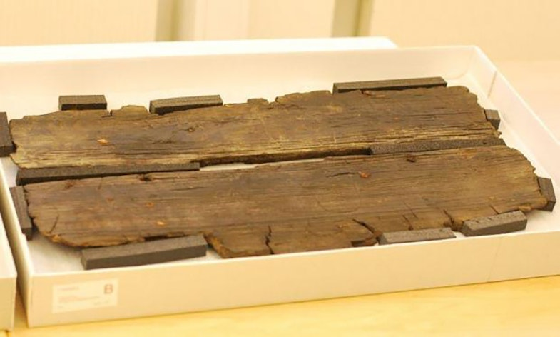 The floorboard from the Gokstad ship