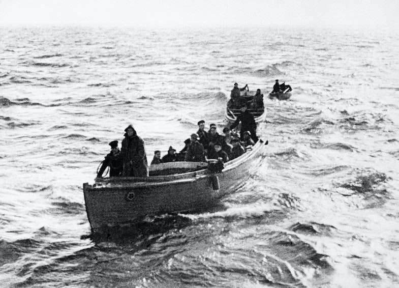 Three of the armada of 'little ships' that joined in the evacuation of troops from Dunkirk