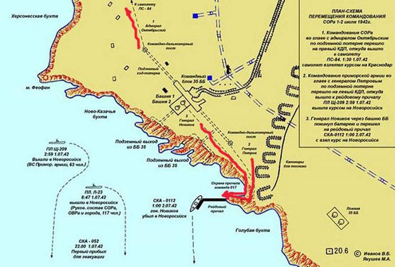 The scheme of escape from Sevastopol, the leaders of his defense