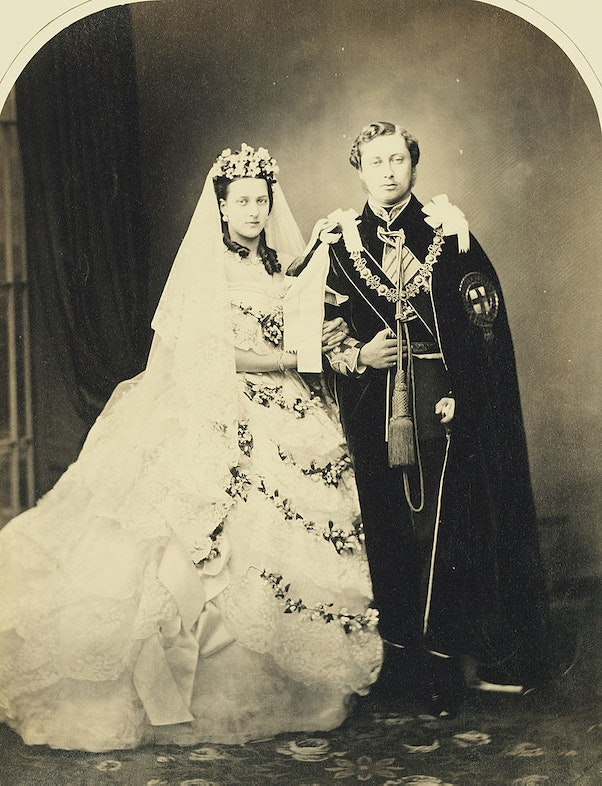 King Edward VII and Queen Alexandra, when Prince and Princess of Wales, on their wedding day