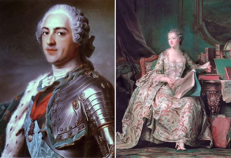 Portrait of Louis XV of France Full-length portrait of the Marquise de Pompadour