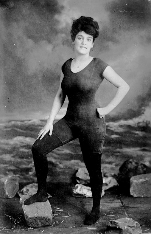 Annette Kellerman Australian professional swimmer, vaudeville and film star in her famous custom swimsuit