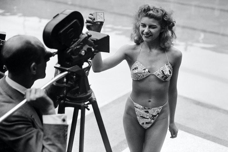 Micheline Bernardini first swimwear bikini