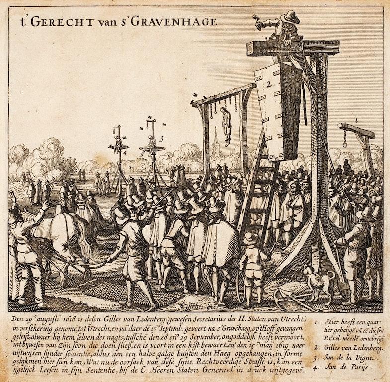 Posthumous hanging of Gillis van Leedenberg