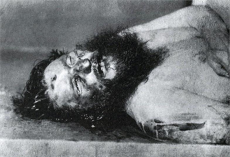 Rasputin's body photo in the morgue