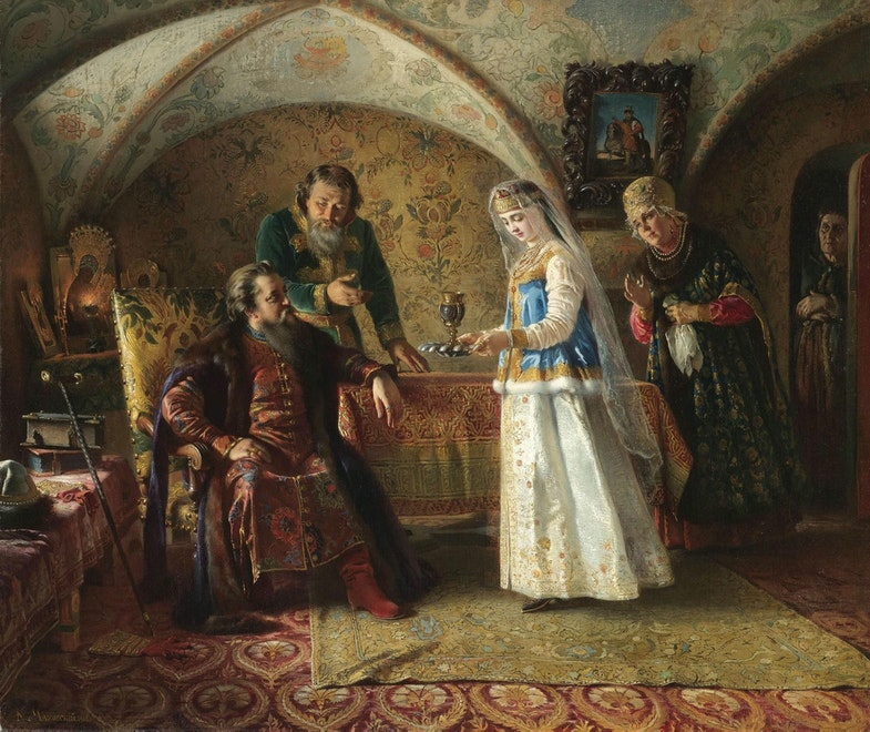 Makovsky Konstantin Egorovich From the everyday life of a Russian boyar of the late seventeenth century