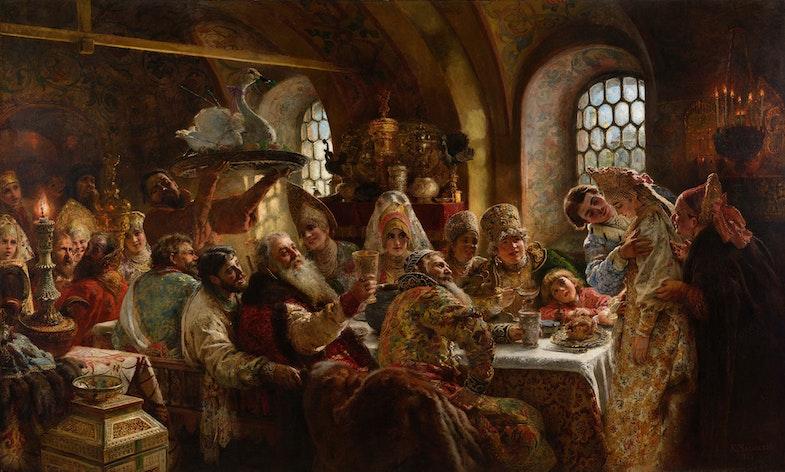 Boyar wedding by Konstantin Makovsky