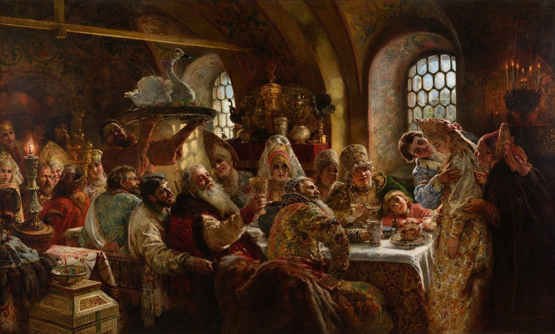 Boyar wedding by Konstantin Makovsky