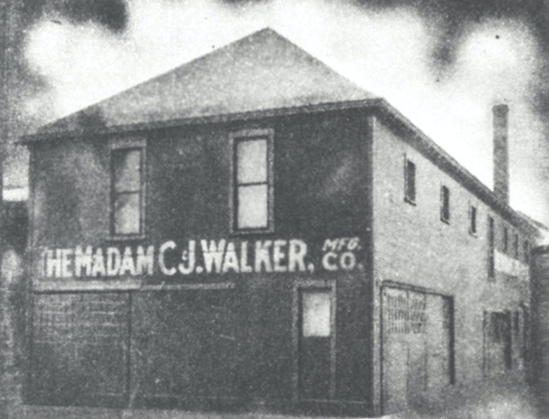 1911 Location of The Madam C.J. Walker Manufacturing Company