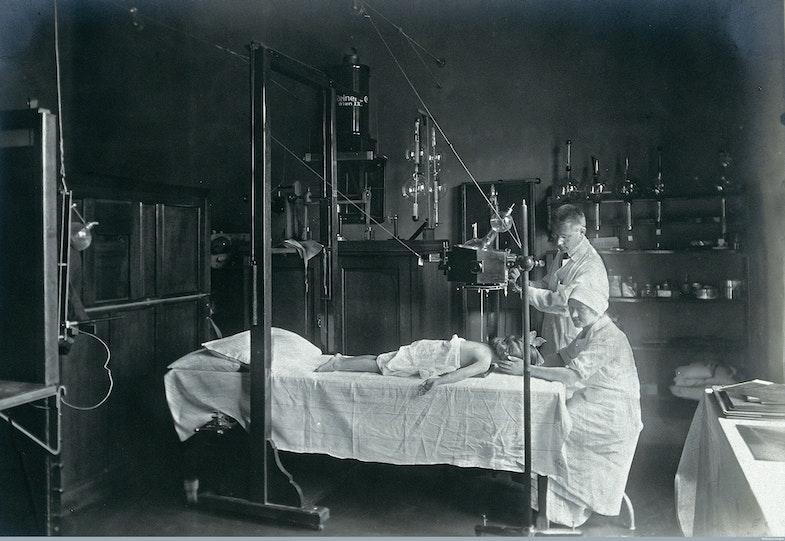 Vienna: a child having an x-ray
