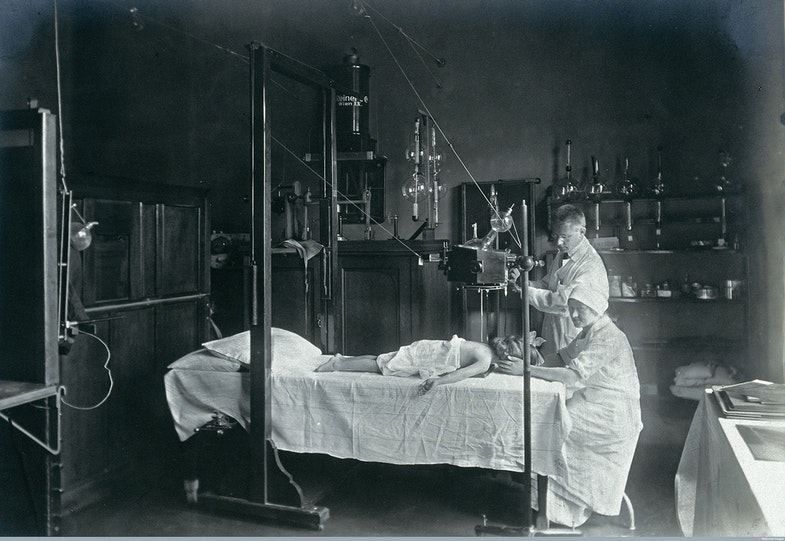 Vienna: a child having an x-ray