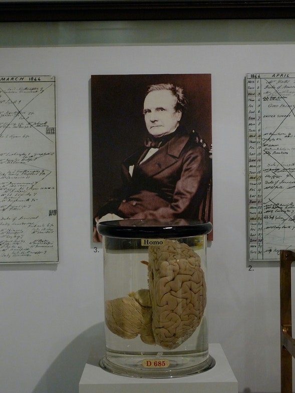 From the Science Museum in London. Charles Babbage and his brai