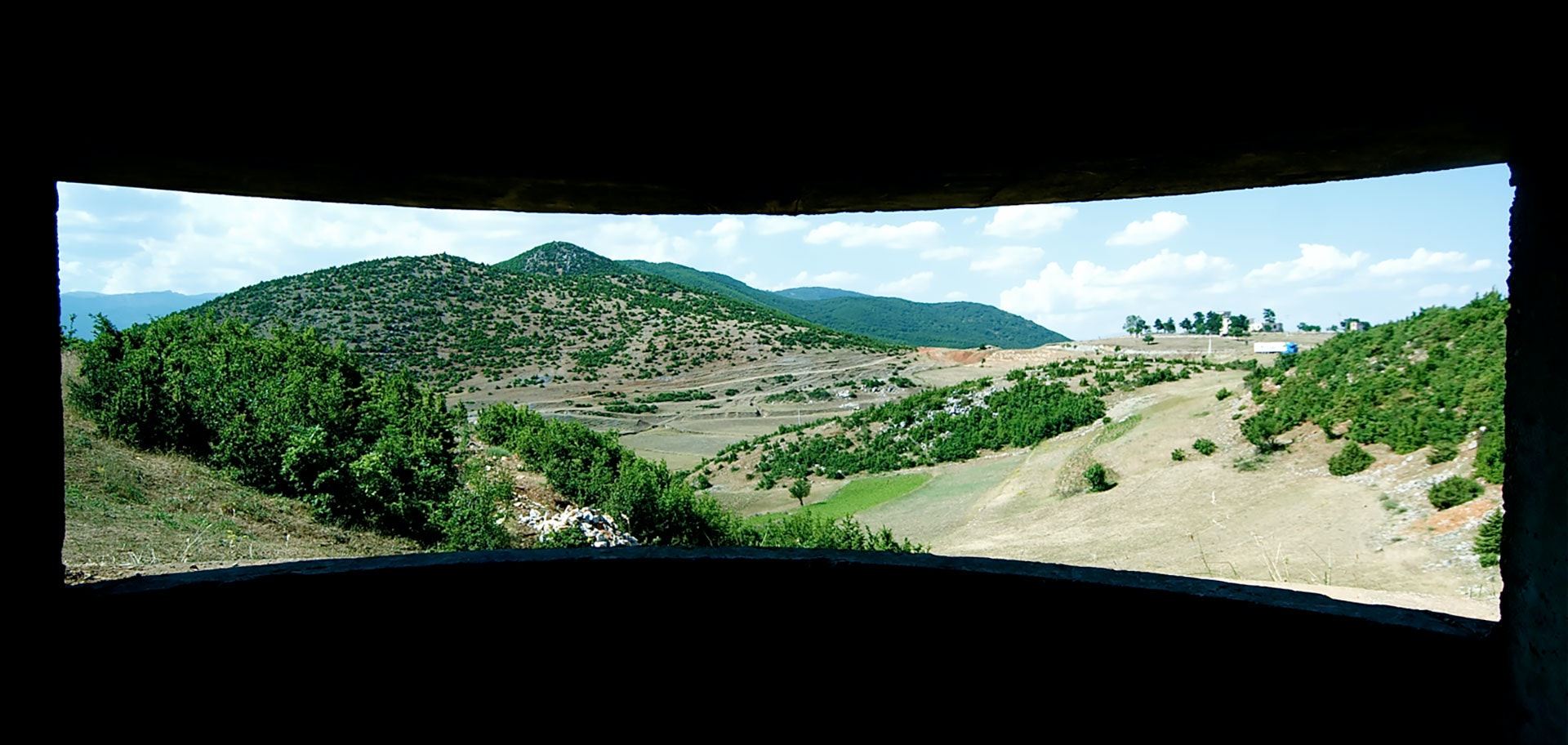 A view out of an Albanian bunker