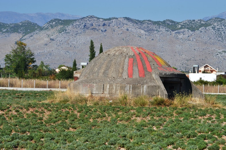 Albanian bunker Pike Zjarri
