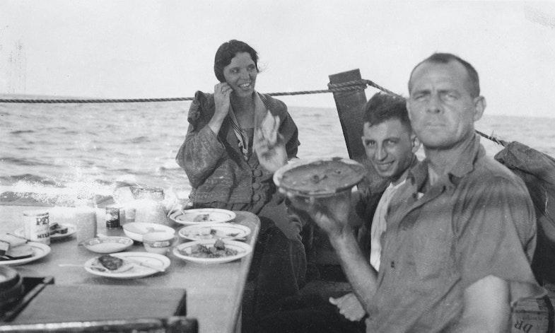 Lythgoe with McCoy aboard the Tomoka