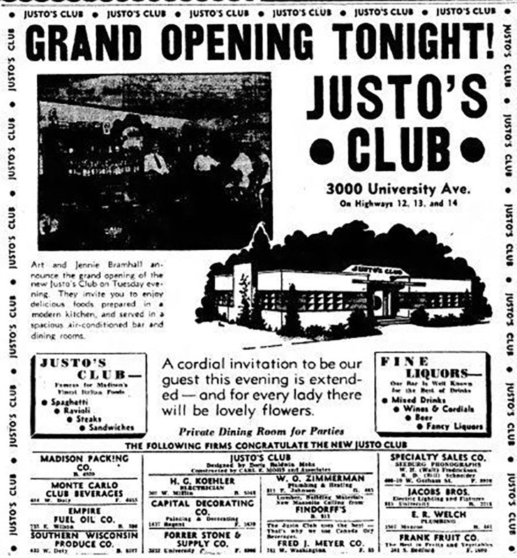 Justo's Club, 3000 University Ave., opened to much fanfare in 1939 in the spot now occupied by Smoky's