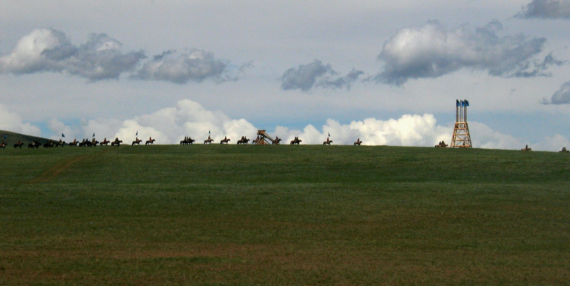 Reenactment of a Mongol military movement