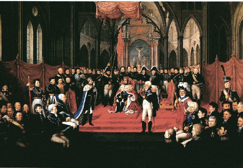 Coronation of Karl III Johan as King of Norway in Nidaros Cathedral, Trondheim