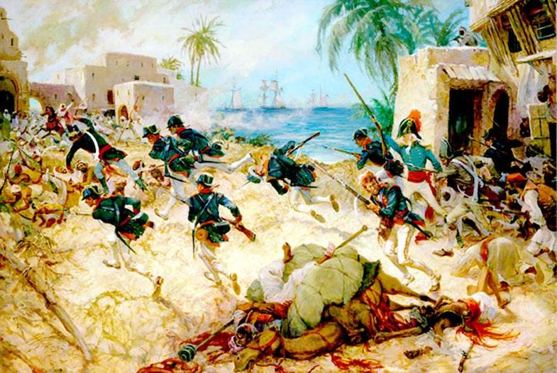 Lieutenant Presley O'Bannon at Derna April 1805