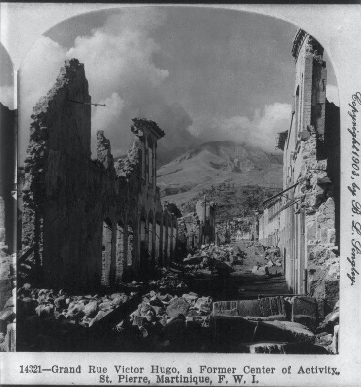 After the volcanic eruption of Mount Pelée, Martinique